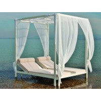 DAYBED ΑΛΟΥΜΙΝΙΟΥ ΜΕ ΤΡΑΠΕΖΙ ΑΝΑΜΕΣΑ ΚΑΙ ΑΝΑΚΛΥΩΜΕΝΕΣ ΠΛΑΤΕΣ ΣΕ ΛΕΥΚΟ