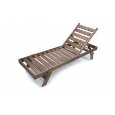 Wooden sunbed split leg type 2