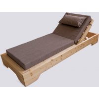 Wooden deck chair 90cm